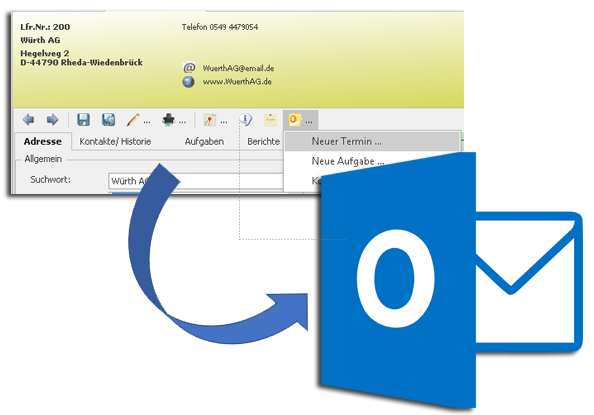 ANNEXUS Slider Outlook V01 - Outlook-Schnittstelle